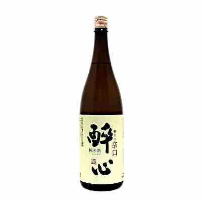 【送料無料】酔心 純米酒 軟水の辛口 酔心酒造 1.8L 瓶★北海道、沖縄のみ別途送料が必要となります