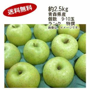【送料無料】王林 りんご 約2.5kg 個数 9-10玉 ランク 特撰★一部、北海道、沖縄のみ別途送料が必要となる場合があります