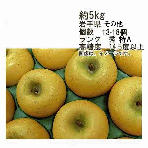 【送料無料】シナノゴールド 糖度14.5度以上 約5kg 個数 13-18玉 ランク 秀★一部、北海道、沖縄のみ別途送料が必要となる場合があります
