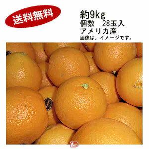 【送料無料】ピュアスぺクトオレンジ アメリカ産 約9kg 個数 28玉入★一部、北海道、沖縄のみ別途送料が必要となる場合があります