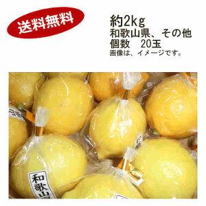 【送料無料】国産レモン 和歌山 その他 約2kg 20玉入★一部、北海道、沖縄のみ別途送料が必要となる場合があります
