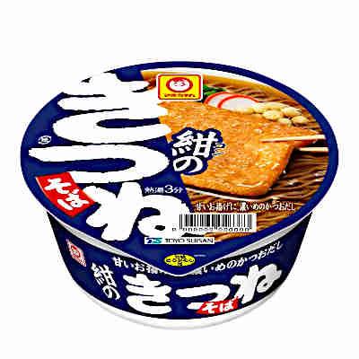 【送料無料1ケース】マルちゃん 紺のきつねそば(西向け) 東洋水産 12個入り