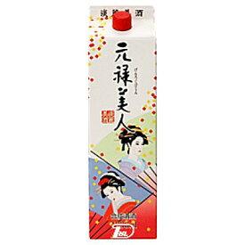 【1ケース】元禄美人 合同酒精 1.8L(1800ml) パック 6本入