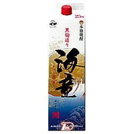 【1ケース】海童 〈芋〉 25度 濱田酒造 1.8L(1800ml) パック 6本