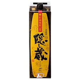 【1ケース】隠し蔵 〈麦〉 25度 濱田酒造 1.8L(1800ml) パック 6本入
