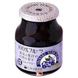 【1ケース】100%フルーツ果実と果汁の自然な甘さ ブルーベリー スドージャム 415g 6個入