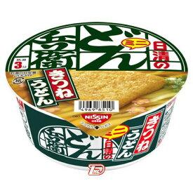 【1ケース】ミニ 日清のどん兵衛 きつねうどん[西] 日清食品 12個入り