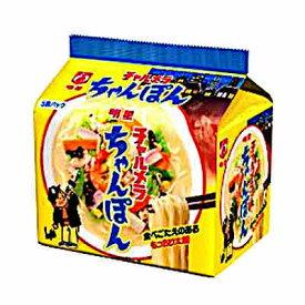 【1ケース】明星チャルメラ ちゃんぽん 明星食品 5食パック 6個入