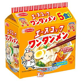【1ケース】特売品 ワンタンメン エースコック 5食パック 6個入り