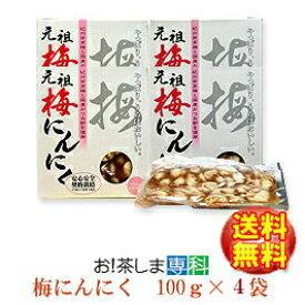 梅辰株式会社 梅にんにく100g×4袋【ラッキーシール対応】
