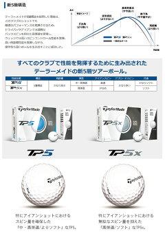 2017年モデルテーラーメイドTP5・TP5xゴルフボール1ダース12球TaylorMadeあす楽日本正規品