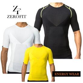 【大特価!】ゼロフィット エナジーウェアショートスリーブ クルーネック イオンスポーツ 夏用 半袖ZEROFIT ENERGY WEAR ZUSW15 メンズ あす楽