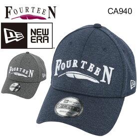 【取扱店限定モデル!】 フォーティーン ニューエラ Wネーム キャップFOURTEEN × NEWERA 帽子 あす楽CA940 TECH K OSFA