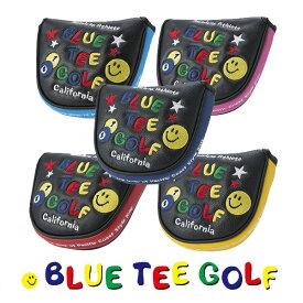 ブルーティーゴルフ スマイル&ピンボール BTGパターカバー ブラックシリーズ マレットタイプBLUE TEE GOLF PC-002 あす楽