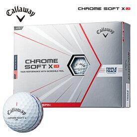 キャロウェイ クロムソフトXLS トリプルトラック ホワイト ゴルフボール 1ダース(12球入り)CW CHROME TRIPLE TRACK あす楽