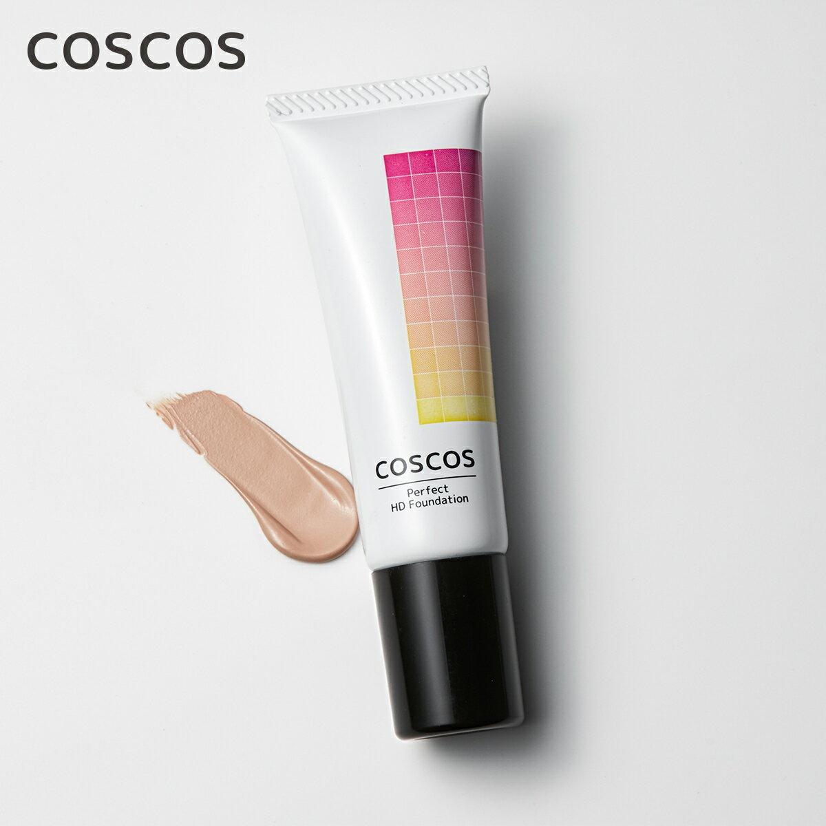 COSCOS リキッドファンデーション Fナチュラル02 ライトピンクベージュ 毛穴レス 高カバー力 メイク コスコス コスプレ コスプレイヤー 持続 カメラ映え