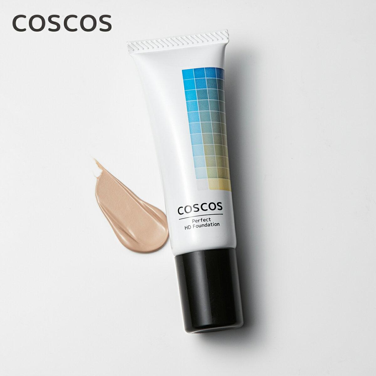 COSCOS リキッドファンデーション Mナチュラル01 ベージュ 高カバー力 毛穴レス コスコス コスプレ 持続 カメラ映え 透明肌