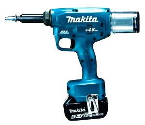マキタ 18V充電式リベッタ RV150DZ 本体のみ (バッテリ、充電器、ケース別売) 2.4、3.2、4.0、4.8mm 各リベット対応付属セット付