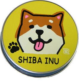 Daiking柴犬の顔のギターピックケースブリキ缶 直径6cm高さ2.2cm サムピックとフィンガーピックも入るネジ式なのでふたがはずれにくい日本製 クリックポストでお届け 送料無料