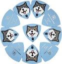 Daikingギターピック KUROSHIBA-TA1.0mmSET 黒柴犬の柄 硬質塩ビ製 厚さ1.0mm 日本製 クリックポストでお届け 送料無料