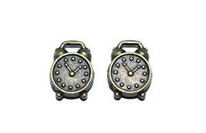 置き時計チャーム 金古美 2個 アンティークゴールド レジン パーツ キーホルダー ネックレス ピアス アクセサリー DIY ハンドメイド