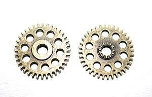 歯車2 チャーム 金古美 2個 アンティークゴールド レジン パーツ キーホルダー ネックレス ピアス アクセサリー DIY ハンドメイド