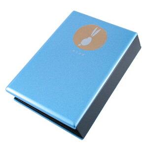 手元供養 位牌マインドアルテ 月うさぎ オリエントライトブルー文字彫無料 0801a017b