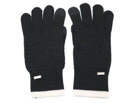 COACH コーチ 手袋 ブラック ホワイト アクリル 綿 ポリエステル F76490 【200】 【中古】【大黒屋】