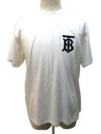 BURBERRY バーバリー Tシャツ メンズ S ホワイト TB コットン 【200】 【中古】【大黒屋】