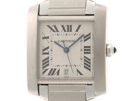 Cartier カルティエ 時計 男性用腕時計 メンズ タンクフランセーズLM 自動巻き オートマチック ステンレス アイボリー文字盤 【474】 【中古】【大黒屋】