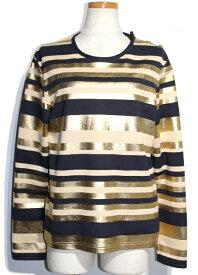 CHANEL シャネル ロングTシャツ レディース36 ゴールド コットン P57908V35692 【200】 【中古】【大黒屋】