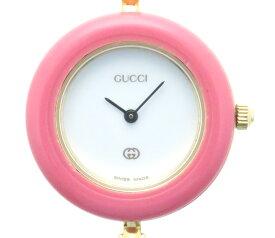 GUCCI グッチ チェンジベゼル 1100L レディース腕時計 替えベゼル10本 レディース腕時計 クオーツ ゴールドメッキ 【205】 【中古】【大黒屋】