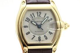 Cartier カルティエ 時計 メンズ ロードスター W62003V2 YG/革 イエローゴールド 新品純正ベルト シルバー文字盤【472】HU 【中古】【大黒屋】