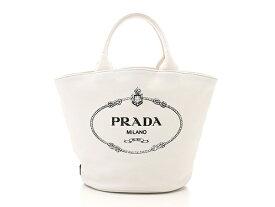 【送料無料】PRADA バッグ カナパ ハンドバッグ カナパトート キャンバス ホワイト 【471】【中古】【大黒屋】
