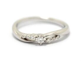【送料無料】4℃ ヨンドシー リング 指輪 K10WG ダイヤモンド 7号  【460】【中古】【大黒屋】