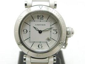 【送料無料】Cartier カルティエ パシャ シータイマー クオーツ SS/ラバー W3140002【435】【中古】【大黒屋】