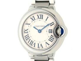 【送料無料】Cartier カルティエ レディース 時計 クオーツ 電池式 バロンブルーSM W69010Z4 ステンレス ホワイト  【436】【中古】【大黒屋】