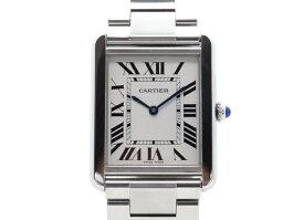 【送料無料】Cartier カルティエ 時計 タンク・ソロLM W5200014 シルバーローマ SS クオーツ 日常生活防水 メンズ 【430】【中古】【大黒屋】