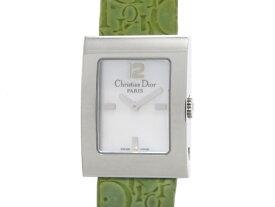 Dior ディオール マリス スクエア レディース 女性用腕時計 クオーツ ステンレス 革 ホワイトシェル グリーン D78-109 【474】【中古】【大黒屋】