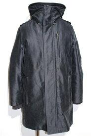 【送料無料】LOUIS VUITTON ルイヴィトン LV コート メンズ 46 ネイビー コットン ムートン 羊革 ライナー付き【200】【中古】【大黒屋】