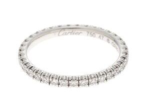 【送料無料】Cartier カルティエ エタンセルリング WG ホワイトゴールド D ダイヤモンド 1.6g #47 7号 【432】【中古】【大黒屋】