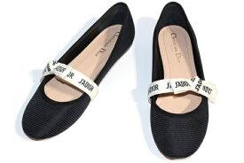 Christian Dior クリスチャンディオール MISS J'ADIOR KCB453TFL_S900 パンプス レディース39 約26cm ブラック リボン ファブリック 2019年 定価¥83,000-【200】【中古】【大黒屋】