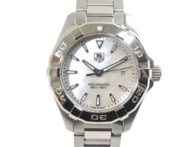 【送料無料】TAG HEUER タグホイヤー アクアレーサー ホワイトシェル文字盤 レディース腕時計 WAY1412【432】【中古】【大黒屋】