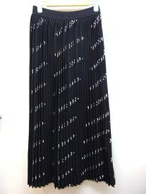 【送料無料】BALENCIAGA バレンシアガ  スカート ナイロン クロ ロゴ シロ クロ S 【432】【中古】【大黒屋】