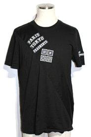 LOUIS VUITTON ルイヴィトン LV Tシャツ メンズブ L ブラック コットン Fragment Design フラグメント【200】【中古】【大黒屋】