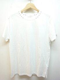 VALENTINO ヴァレンティノ Tシャツ メンズS コットン ロックスタッズ ホワイト 【432】【中古】【大黒屋】