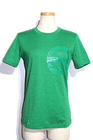 LOUIS VUITTON ルイヴィトン LV Tシャツ レディース XS グリーン コットン RW192W【200】【中古】【大黒屋】