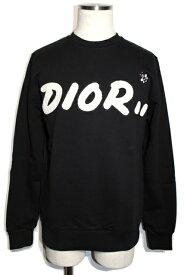 【送料無料】Dior Homme ディオールオム DIOR×KAWS スウェットシャツ トレーナー 923J620N1242 メンズXS 日本限定 コットン ブラック【200】【中古】【大黒屋】