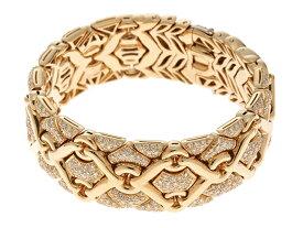 BVLGARI ブルガリ ブレスレット トリカブレスレット K18イエローゴールド ダイヤモンド 【472】【中古】【大黒屋】
