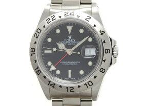 A番 2000年並行 ROLEX ロレックス エクスプローラー2 メンズ 男性用腕時計 オートマチック ブラック ステンレス 16570【472】【中古】【大黒屋】